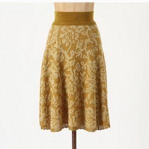 Moth Anthropologie Hellebore Wool Skirt